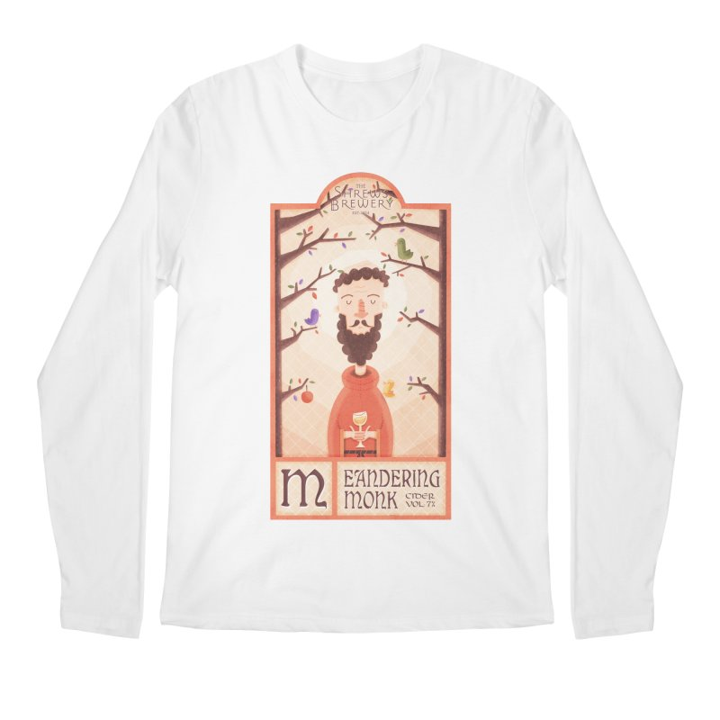 Meandering Monk Men's Longsleeve T-Shirt by boney's Artist Shop