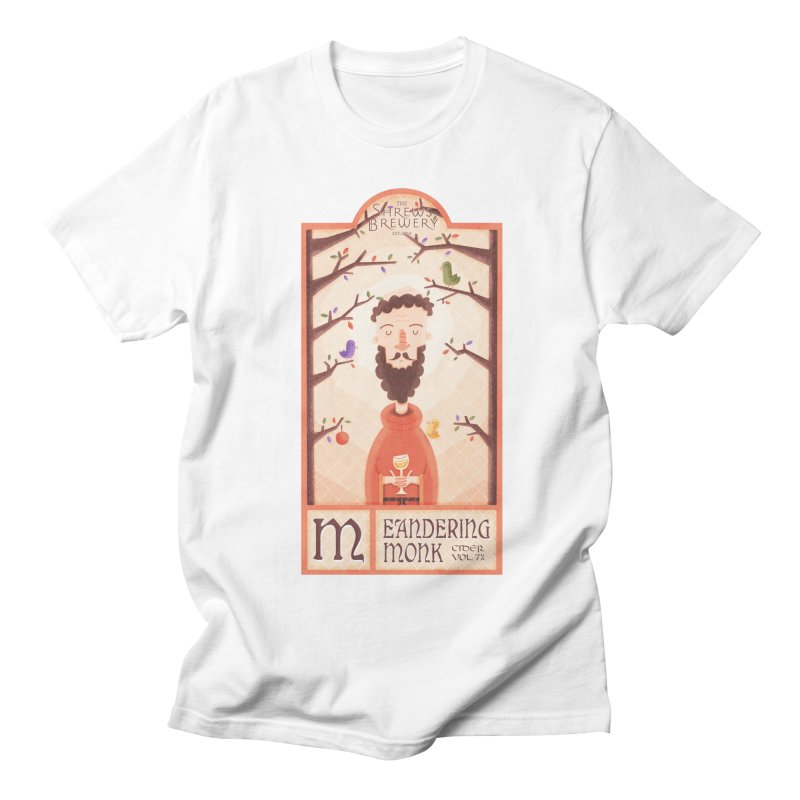 Meandering Monk Men's T-shirt by boney's Artist Shop