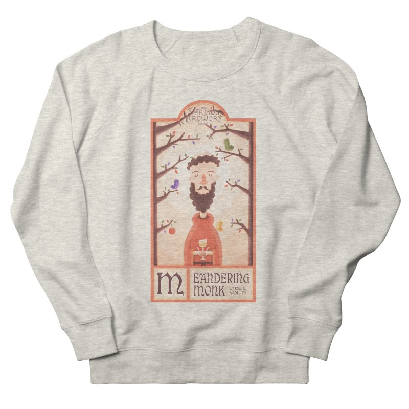 Meandering Monk Men's Sweatshirt by boney's Artist Shop