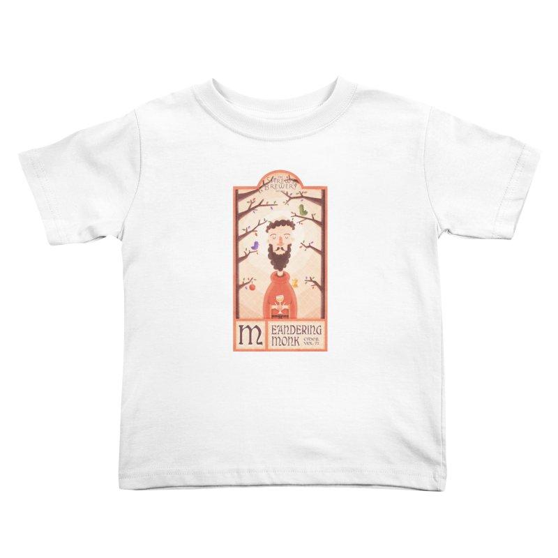 Meandering Monk Kids Toddler T-Shirt by boney's Artist Shop