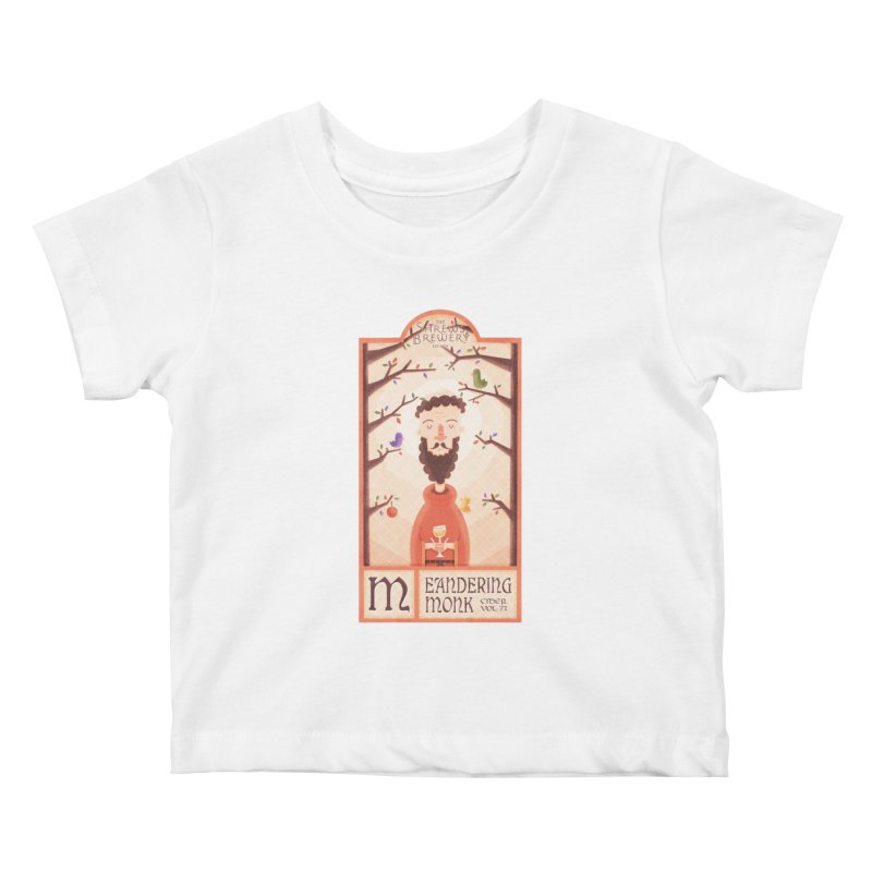 Meandering Monk Kids Baby T-Shirt by boney's Artist Shop