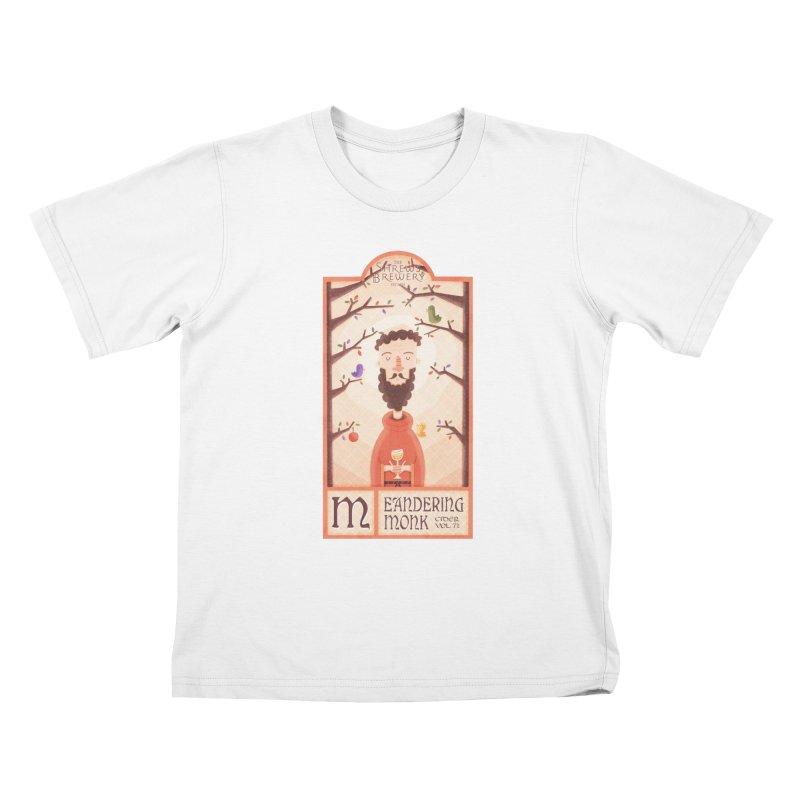 Meandering Monk Kids T-Shirt by boney's Artist Shop