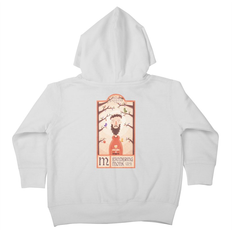 Meandering Monk Kids Toddler Zip-Up Hoody by boney's Artist Shop
