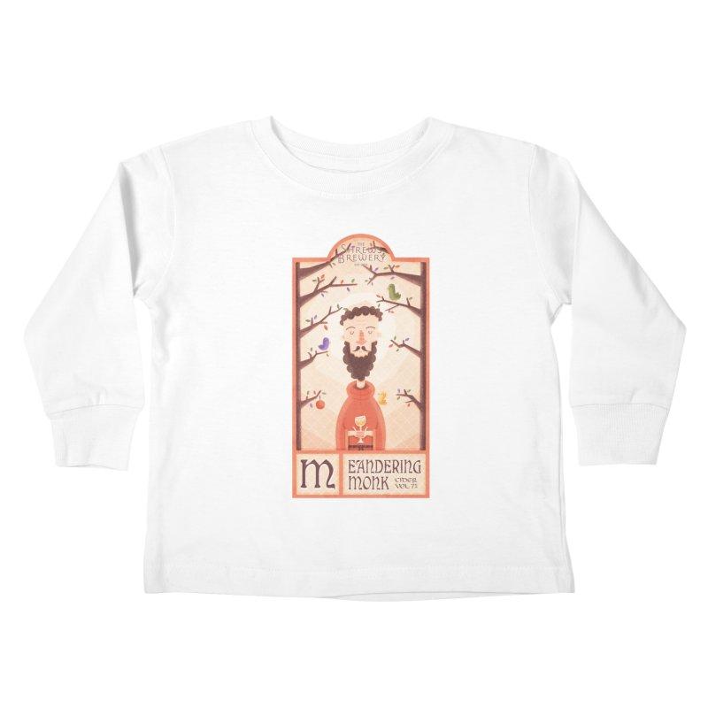 Meandering Monk Kids Toddler Longsleeve T-Shirt by boney's Artist Shop