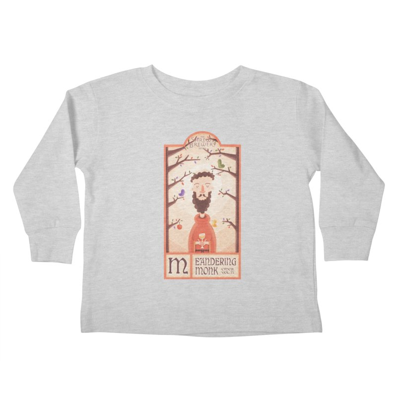 Meandering Monk Kids Toddler Longsleeve T-Shirt by boney's Artist Shop