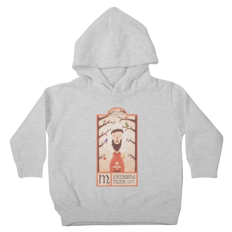 Meandering Monk Kids Toddler Pullover Hoody by boney's Artist Shop