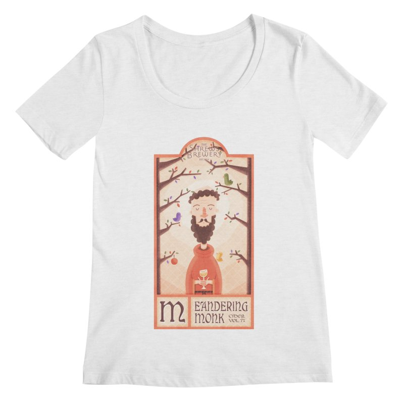 Meandering Monk Women's Scoopneck by boney's Artist Shop