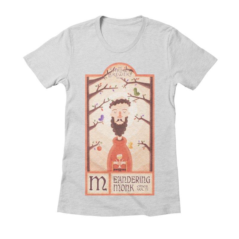 Meandering Monk Women's Fitted T-Shirt by boney's Artist Shop