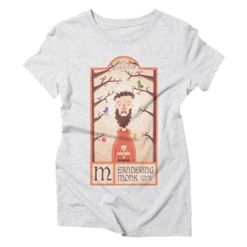 Meandering Monk Women's Triblend T-shirt by boney's Artist Shop