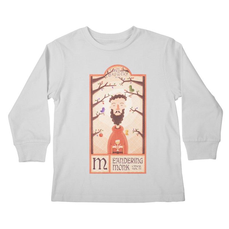 Meandering Monk Kids Longsleeve T-Shirt by boney's Artist Shop