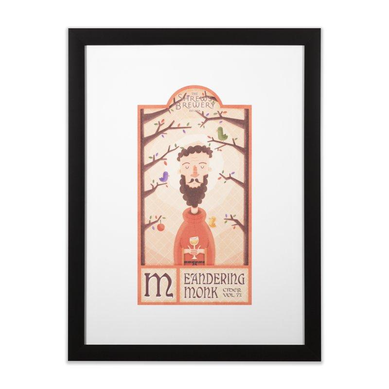 Meandering Monk Home Framed Fine Art Print by boney's Artist Shop