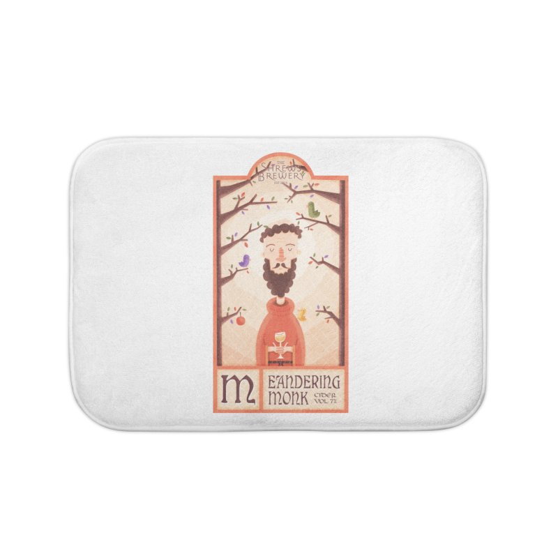 Meandering Monk Home Bath Mat by boney's Artist Shop