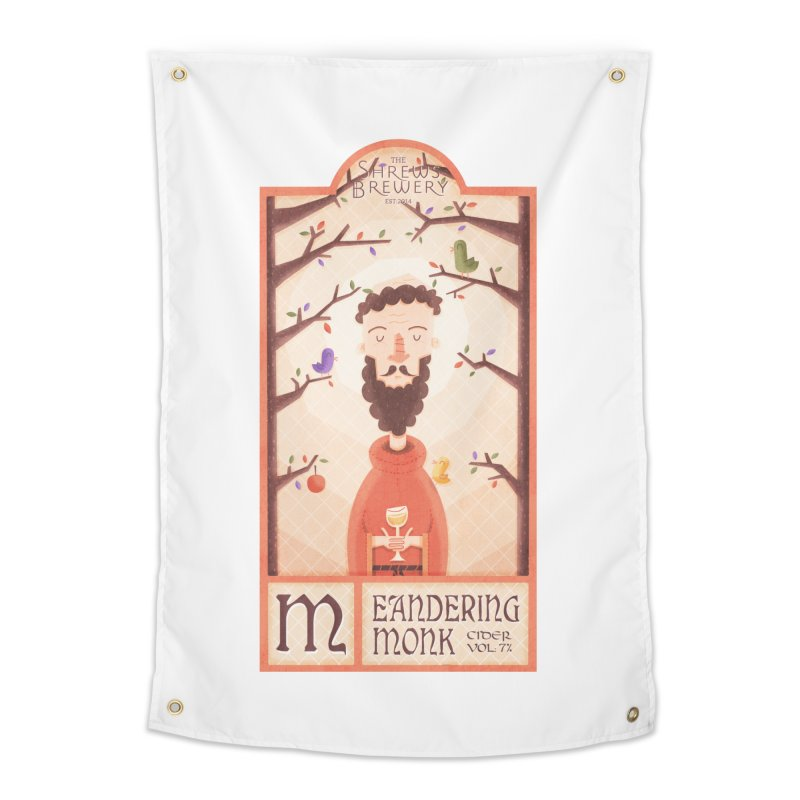 Meandering Monk Home Tapestry by boney's Artist Shop