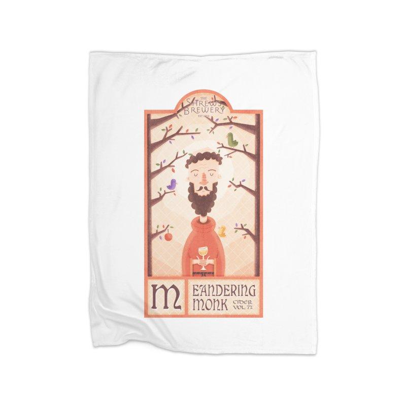Meandering Monk Home Blanket by boney's Artist Shop