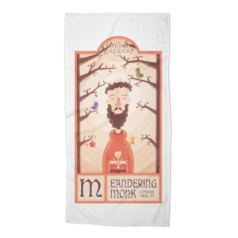 Meandering Monk Accessories Beach Towel by boney's Artist Shop