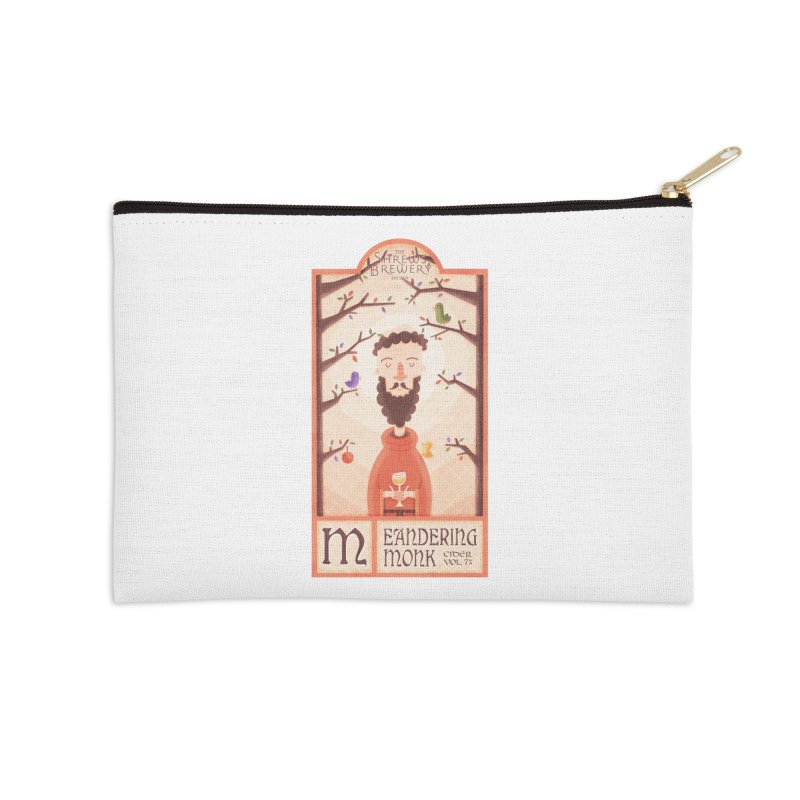 Meandering Monk Accessories Zip Pouch by boney's Artist Shop