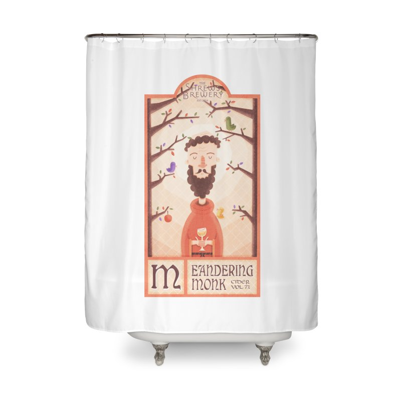 Meandering Monk Home Shower Curtain by boney's Artist Shop