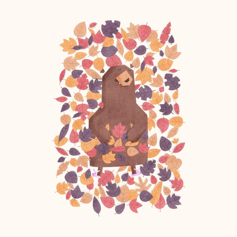 Leaf the Bear Alone He's Hibernating by boney's Artist Shop