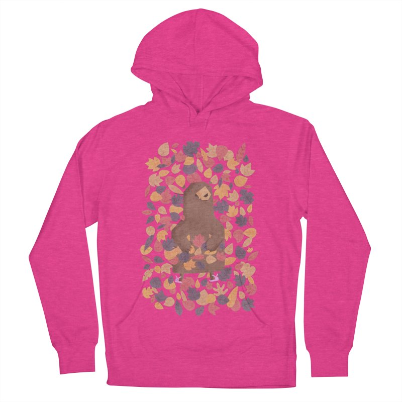 Leaf the Bear Alone He's Hibernating Women's Pullover Hoody by boney's Artist Shop