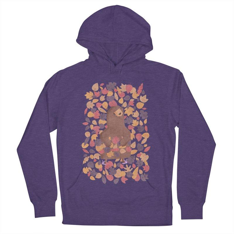 Leaf the Bear Alone He's Hibernating Men's Pullover Hoody by boney's Artist Shop
