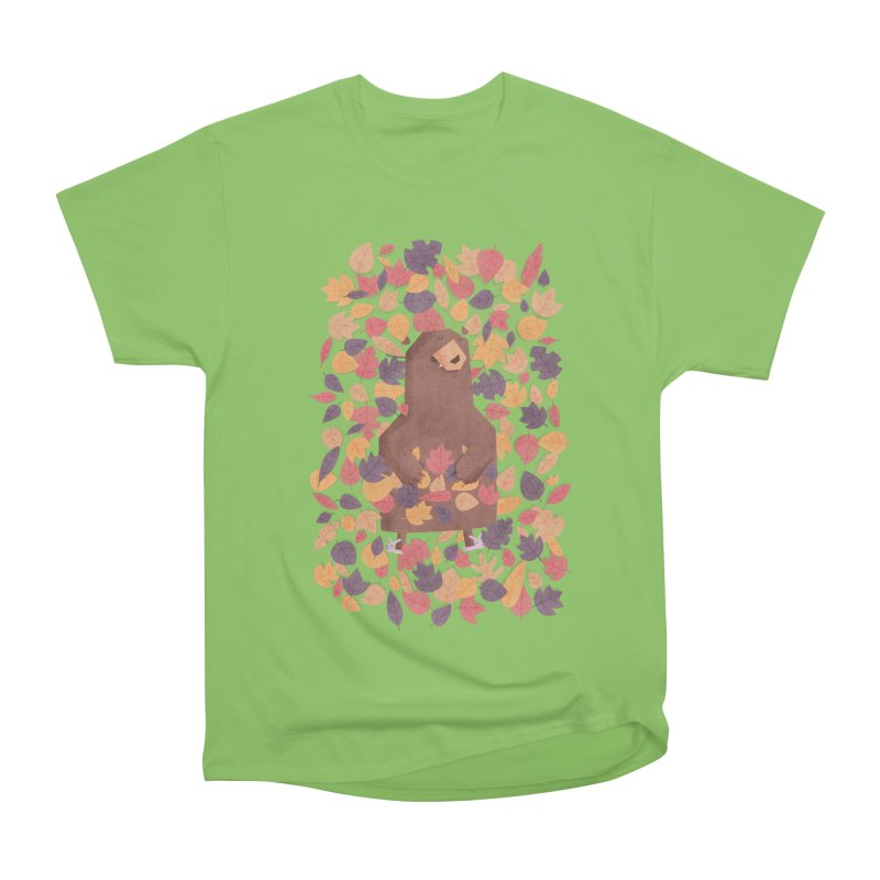 Leaf the Bear Alone He's Hibernating Men's Heavyweight T-Shirt by boney's Artist Shop
