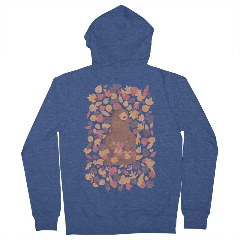 Leaf the Bear Alone He's Hibernating Women's Zip-Up Hoody by boney's Artist Shop