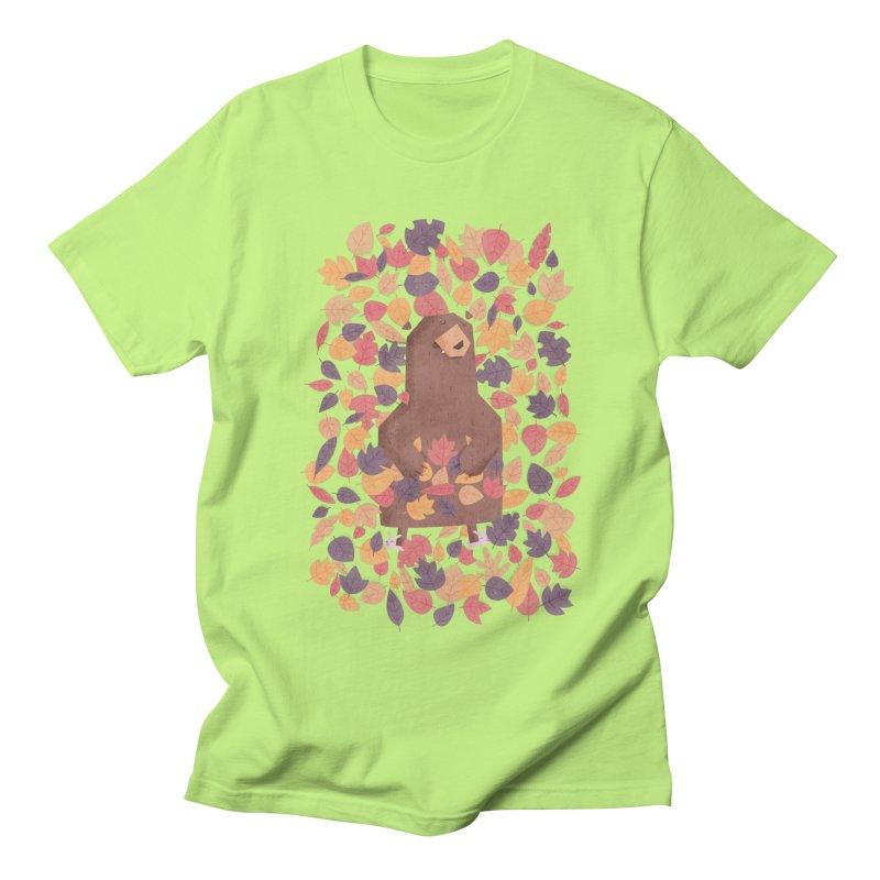 Leaf the Bear Alone He's Hibernating Women's Unisex T-Shirt by boney's Artist Shop