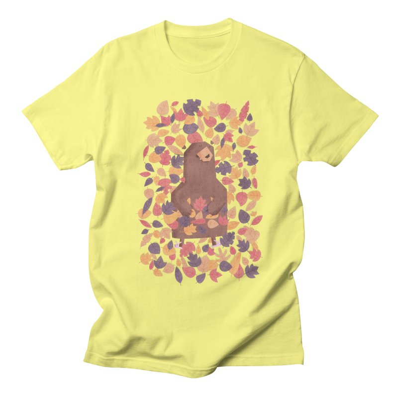 Leaf the Bear Alone He's Hibernating Men's T-shirt by boney's Artist Shop
