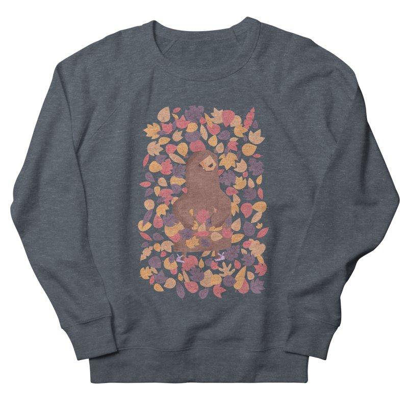 Leaf the Bear Alone He's Hibernating Women's Sweatshirt by boney's Artist Shop