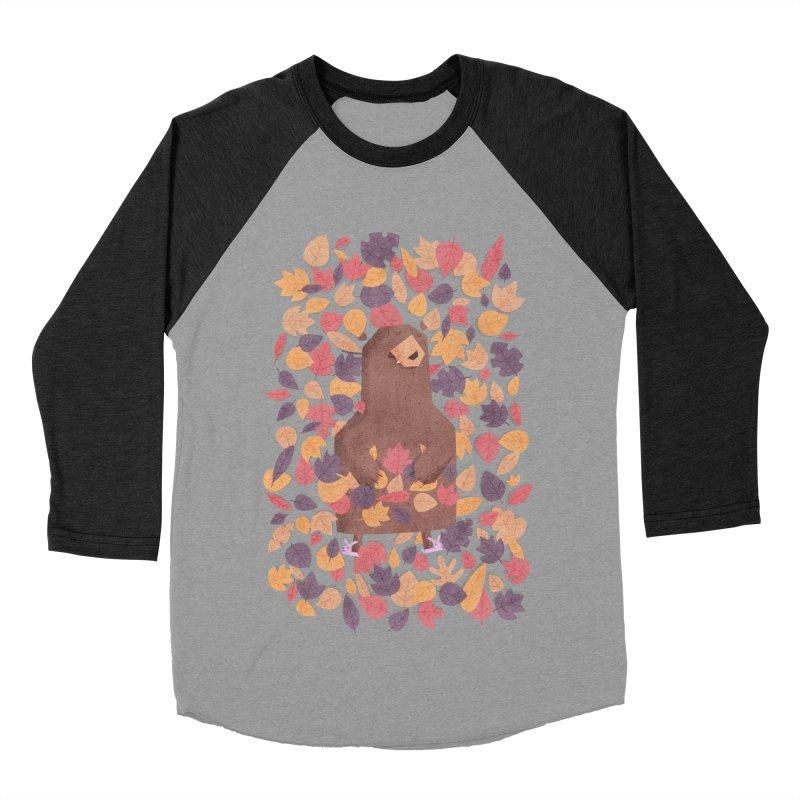 Leaf the Bear Alone He's Hibernating Women's Baseball Triblend T-Shirt by boney's Artist Shop