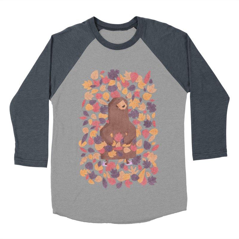Leaf the Bear Alone He's Hibernating Men's Baseball Triblend T-Shirt by boney's Artist Shop