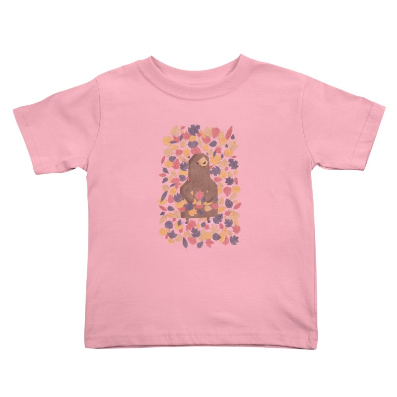 Leaf the Bear Alone He's Hibernating Kids Toddler T-Shirt by boney's Artist Shop