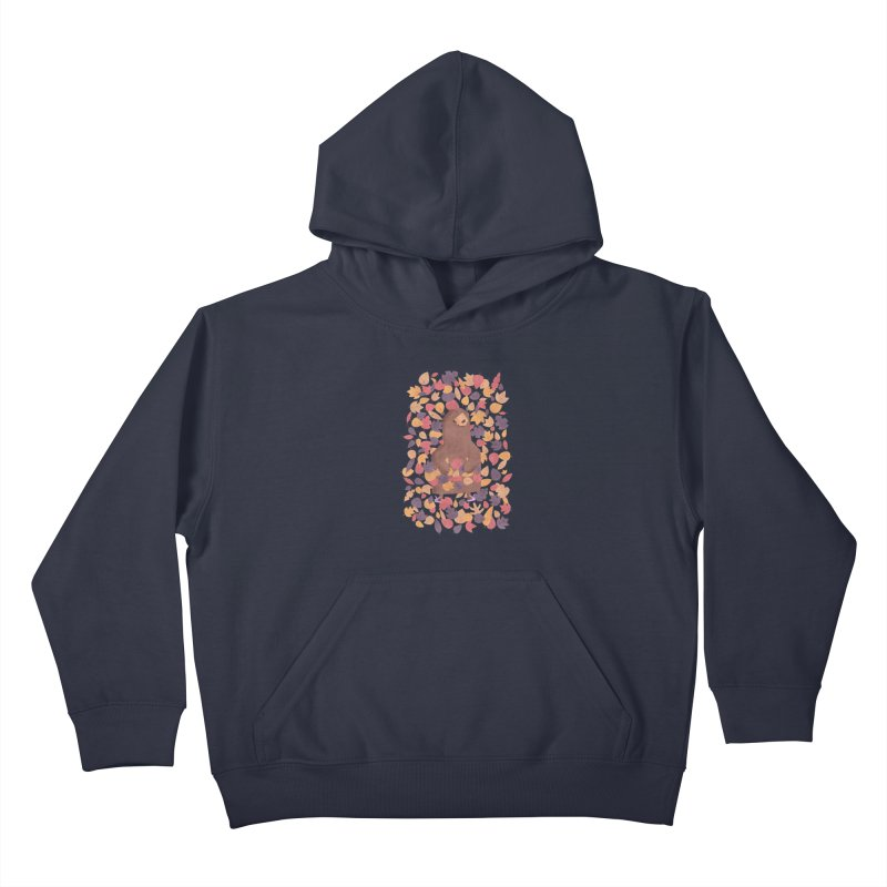 Leaf the Bear Alone He's Hibernating Kids Pullover Hoody by boney's Artist Shop