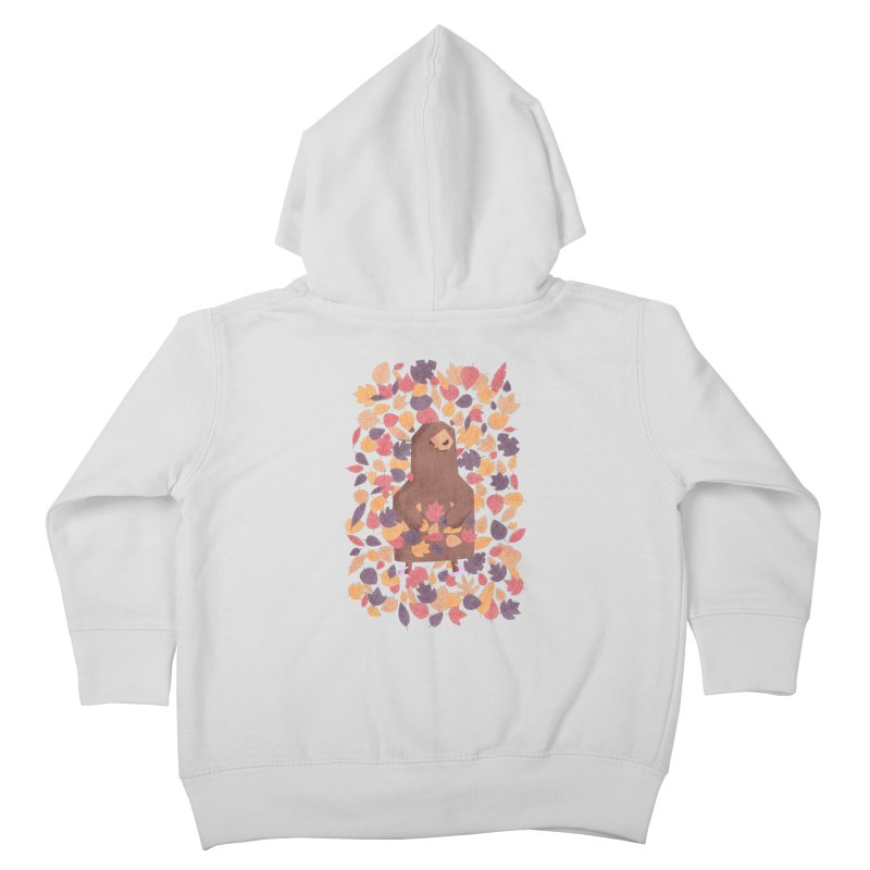 Leaf the Bear Alone He's Hibernating Kids Toddler Zip-Up Hoody by boney's Artist Shop