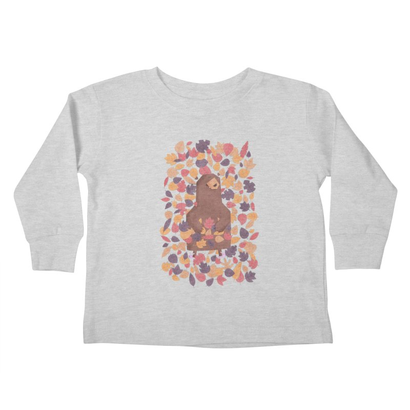 Leaf the Bear Alone He's Hibernating Kids Toddler Longsleeve T-Shirt by boney's Artist Shop
