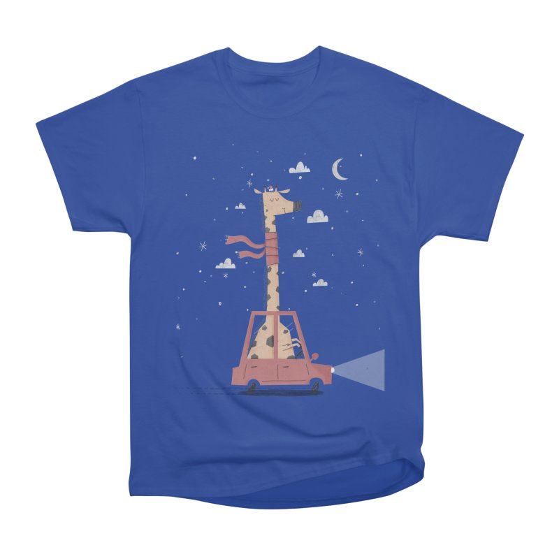 Giraffing Home for Christmas Men's Heavyweight T-Shirt by boney's Artist Shop