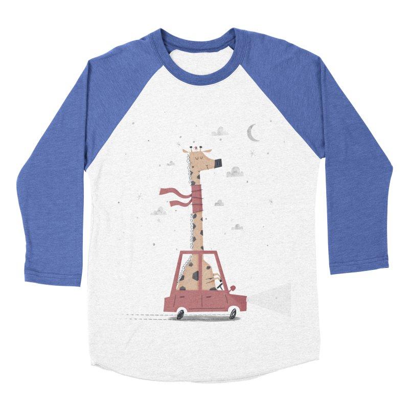 Giraffing Home for Christmas Men's Baseball Triblend T-Shirt by boney's Artist Shop