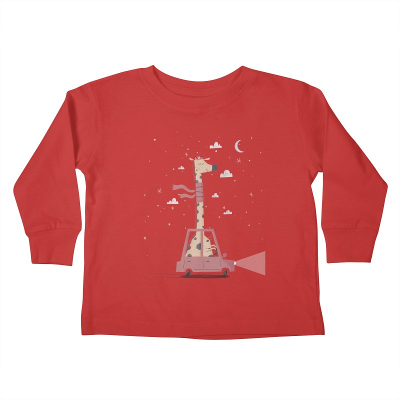Giraffing Home for Christmas Kids Toddler Longsleeve T-Shirt by boney's Artist Shop