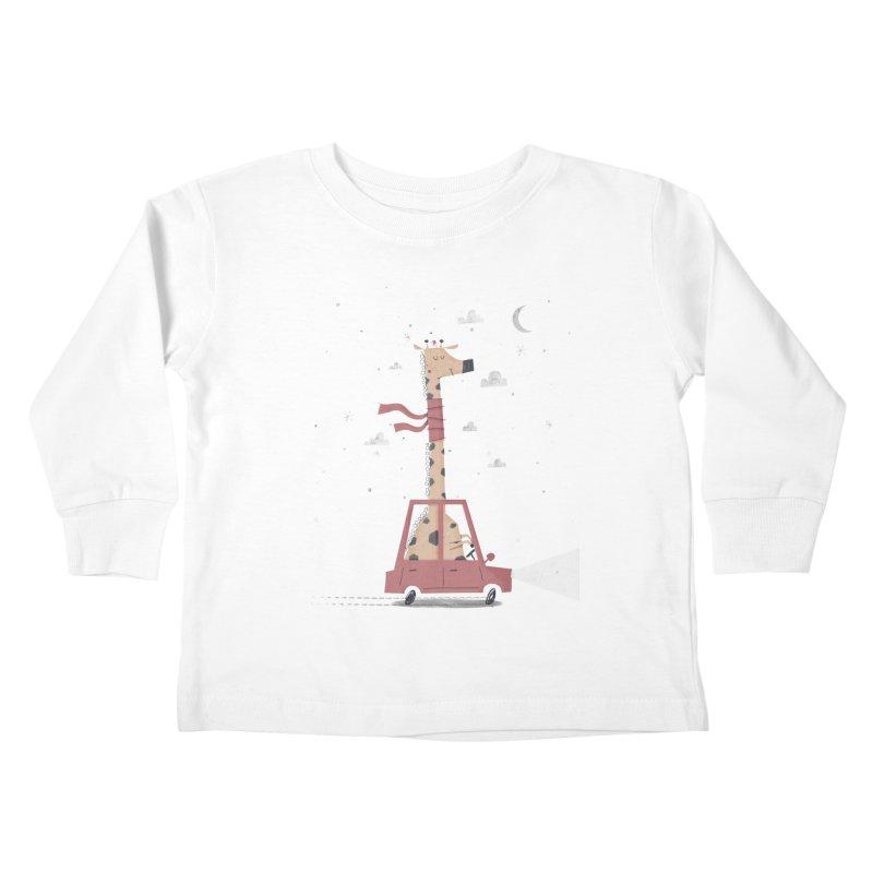 Giraffing Home for Christmas Kids Toddler Longsleeve T-Shirt by boney's Artist Shop