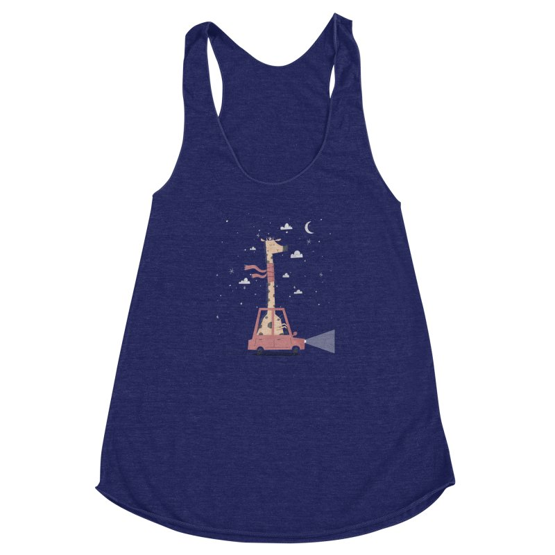 Giraffing Home for Christmas Women's Racerback Triblend Tank by boney's Artist Shop