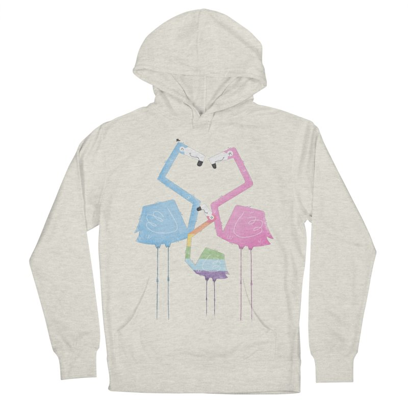 A Fabulous Family of Flamingos (Gay Pride) Men's Pullover Hoody by boney's Artist Shop