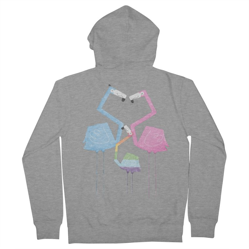 A Fabulous Family of Flamingos (Gay Pride) Women's Zip-Up Hoody by boney's Artist Shop