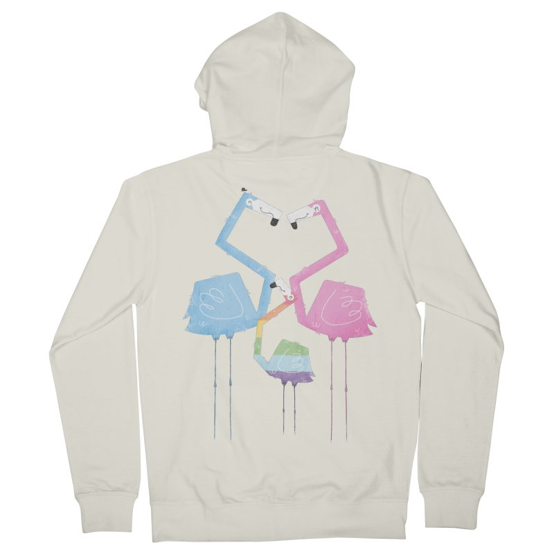 A Fabulous Family of Flamingos (Gay Pride) Men's Zip-Up Hoody by boney's Artist Shop
