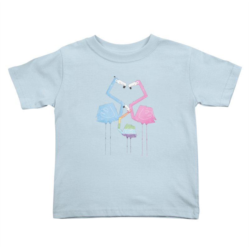 A Fabulous Family of Flamingos (Gay Pride) Kids Toddler T-Shirt by boney's Artist Shop