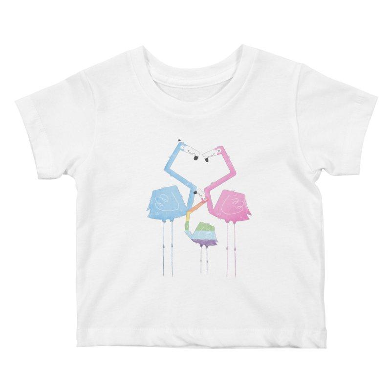 A Fabulous Family of Flamingos (Gay Pride) Kids Baby T-Shirt by boney's Artist Shop