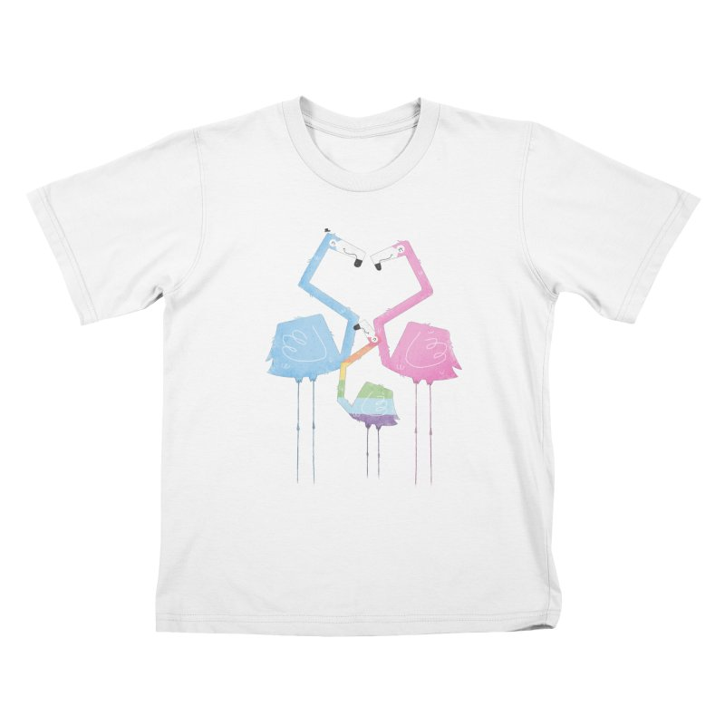 A Fabulous Family of Flamingos (Gay Pride) Kids T-Shirt by boney's Artist Shop