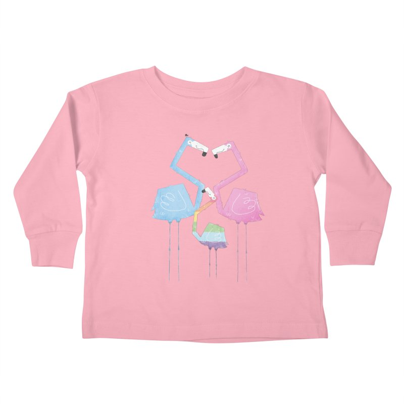 A Fabulous Family of Flamingos (Gay Pride) Kids Toddler Longsleeve T-Shirt by boney's Artist Shop
