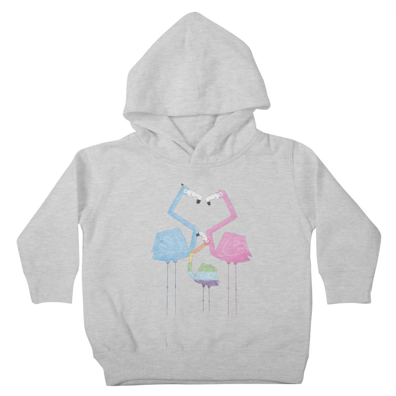 A Fabulous Family of Flamingos (Gay Pride) Kids Toddler Pullover Hoody by boney's Artist Shop