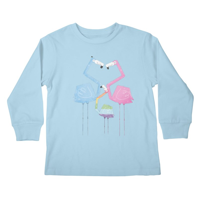 A Fabulous Family of Flamingos (Gay Pride) Kids Longsleeve T-Shirt by boney's Artist Shop