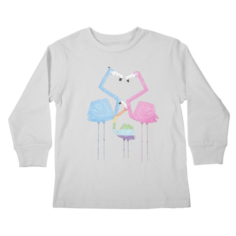 A Fabulous Family of Flamingos (Gay Pride) Kids Longsleeve T-Shirt by boney's Artist Shop